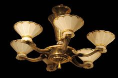 Art Deco Chandelier. giltwood. Excellent condition. French. c1930