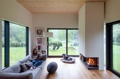 Schoener Wohnen - Gartenzimmer mit Kamin