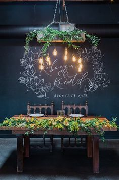 How cool is this sweetheart table design with yellow florals? We love the pop of color for a summer wedding in California. Check out more details from this modern industrial wedding on our blog. Spring Wedding Destinations, Destination Wedding Planner, Industrial Wedding, Modern Industrial, Bride Groom Photos, California Wedding Venues, Spring Wedding Inspiration, Outdoor Wedding Venues, Festival Wedding