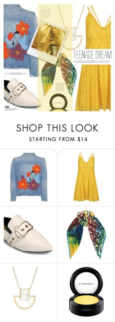 """Yellow Crush"" by eclectic-chic ❤ liked on Polyvore featuring Citizens of Humanity, Jimmy Choo, MAC Cosmetics, loafers, yoins and yellowcrush"