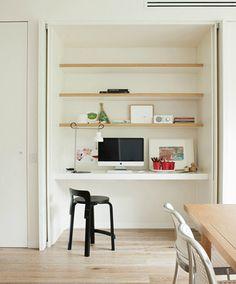 Shareen Joel design. Love these simple desks for children's rooms