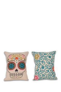 Sugar Skulls Reversible Pillow