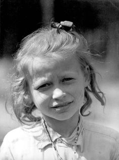 Bergen-Belsen, Germany, 1945, A young girl after the liberation.