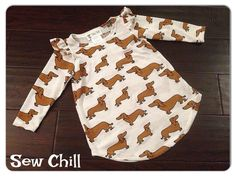 """""""puppy love jr"""" flutter tunic by Sew Chill  www.sewchill.com loading 1/26/15 at 8:30pm CST"""