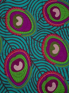 Pagne africaine en cire au motif anacardes sur les feuilles rw6387