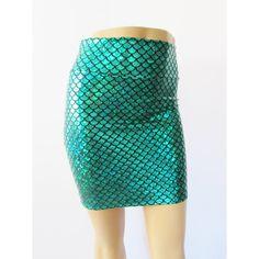 Green Mini Mermaid Scale Spandex Bodycon Mini-Skirt ($30) ❤ liked on Polyvore featuring skirts, mini skirts, green, women's clothing, short mini skirts, sparkle skirts, green skirt, bodycon skirt and lycra mini skirt