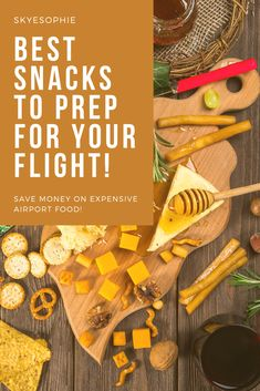 Airport food can drain your wallet like a waterfall. Don't waste money on expensive airport food. Here are the Best Snacks To Prep For Your Flight Healthy Travel Food, Healthy Snacks To Make, Healthy Snack Options, Healthy Appetizers, Travel Hack, Travel Ideas, Travel Tips, Meals No Refrigeration, Airport Food