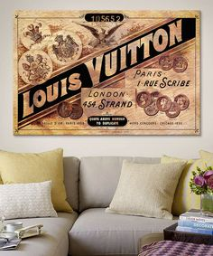 Vintage Louis Vuitton Advertisement Canvas Wall Art