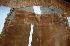 Women's Land Army Breeches front detail