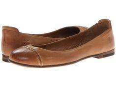 Frye Phillip Cap Toe Ballet Camel Soft Vintage Leather - Zappos.com Free Shipping BOTH Ways