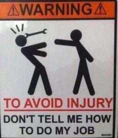Funny Sign #Injury, #Job