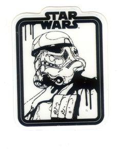 #1725 Star Wars Stormtrooper Head Painting ,6x7.5 cm decal sticker…