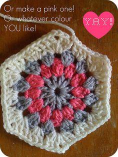 :: Hello Hexagon! How to Crochet A Hexagon… | meetmeatmikes