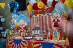 Payaso Plim Plim Happy 2nd Birthday, Circus Birthday, Birthday Cake, Noah, Ideas Para, First Birthdays, Party Themes, Carnival, Baby Shower