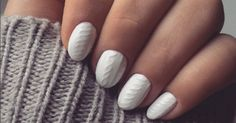 This year, the hottest winter look is cable knit nails.