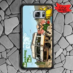 Cartoons Breaking Bad Samsung Galaxy S6 Edge Plus Black Case