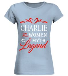 # CHARLIE THE WOMAN THE MYTH THE LEGEND .  CHARLIE THE WOMAN THE MYTH THE LEGEND  A GIFT FOR THE SPECIAL PERSON  It's a unique tshirt, with a special name!   HOW TO ORDER:  1. Select the style and color you want:  2. Click Reserve it now  3. Select size and quantity  4. Enter shipping and billing information  5. Done! Simple as that!  TIPS: Buy 2 or more to save shipping cost!   This is printable if you purchase only one piece. so dont worry, you will get yours.   Guaranteed safe and secure…