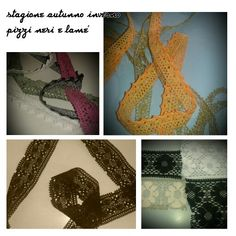 Autumn winter Laces and ribbons Black and lurex Contact us for sampling: Www.pizzitaliani.com  #laces #trims #ribbons #ruban #dentelle #encajes #cintas #crochet #fashion #sewing #torchon
