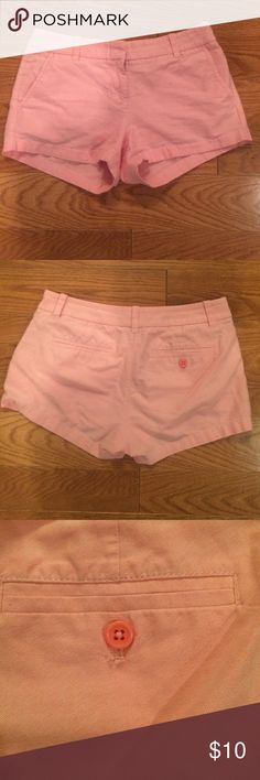 J Crew Pink Shorts These J Crew shorts are so cute!!! They are a perfect pink. They have some white weaved into them so it makes them a light pink! You can notice it in the 3rd picture of you look closely. They are so comfy you will love them!! J. Crew Shorts