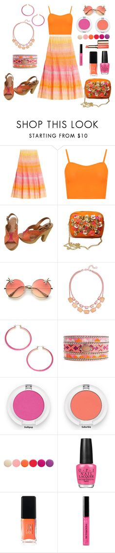 Untitled #579 by siriusfunbysheila1954 on Polyvore featuring WearAll, Missoni, Ash, Trina Turk, Charter Club, Bobbi Brown Cosmetics, Clarins, Deborah Lippmann, JINsoon and OPI