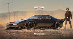 KITT Gains Wide-Body Kit In This 'Knight Rider Tribute' Rendering