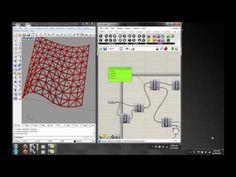 Grasshopper Lecture 4: Data Trees, Structure  space beam. Bridge.