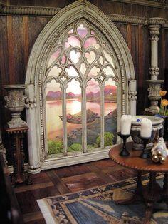 Fantasy Castle Room Box for J. Bush   by Ken Haseltine Regent Miniatures