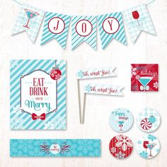 I think I'm in the mood for a cocktail party! ;)  Merry Martini Party Kit | Hostess Ink