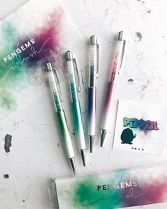 PenGems Airbrush collection Stationary School, Cute Stationary, Art Supplies, Office Supplies, Crystal Pen, Cute Pens, Cute School Supplies, Pastel Pencils, Stationery Shop