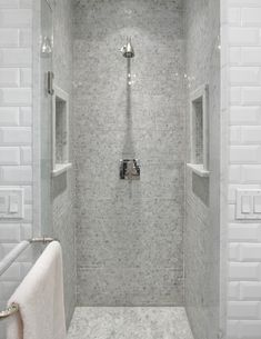 Small Shower Design small shower stall - neat idea to cut out some of the wall for