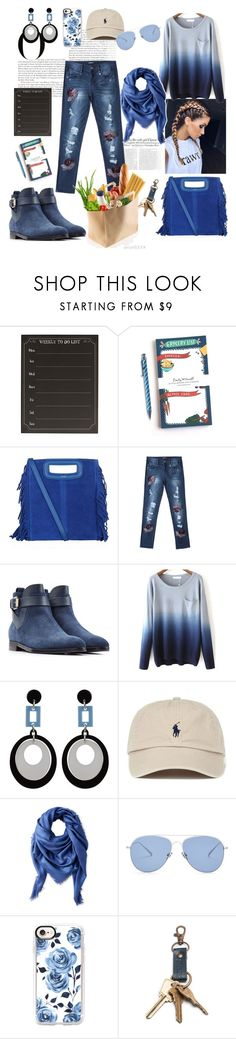 """Untitled #675"" by csfshawn on Polyvore featuring Vanity Fair, Cathy's Concepts, Emily McDowell, Maje, Bebe, Sergio Rossi, Liberty, Kaleos and Casetify"