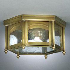 "Northeast Lantern Williams 5.5"" 1 Light Flush Mount Finish: Raw Copper, Shade Color: Clear"