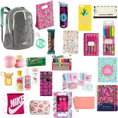 What's in my bookbag by purpleglitter10 on Polyvore featuring polyvore, fashion, style, Kate Spade, The North Face, NIKE, Lilly Pulitzer, Eos, Dove, Charlotte Tilbury and MANGO