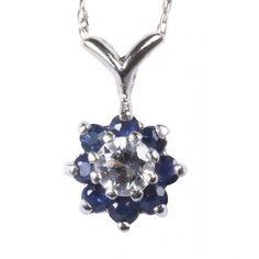 Hoppe Jewelers - 14 KW SAPP/1/4 WHITE SAPPHIRE CLUSTER PEND, $400.0 (http://www.hoppejewelers.com/14-kw-sapp-1-4-ctw-diam-cluster-pend/)