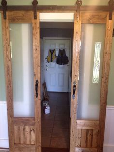 Sliding Doors To Laundry Room DIY Sliding French . Converting Laundry Latches Into Door Or Drawer Pulls A . Home and Family Sliding French Doors, Sliding Door Design, Double Doors, Internal Sliding Doors, Laundry Room Doors, Bathroom Doors, Closet Doors, Closet Redo, Bathroom Closet