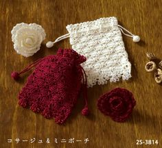 charted pattern, crochet cozy, pouch, purse, bag