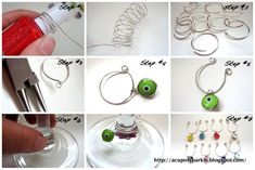 Handmade Glass Charm Tutorial.  Great photos.  These would make wonderful gifts for friends who drink wine.  I have used glass charms to identify tea cups at a lady's tea before. :)