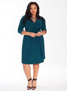 Dominique Plus Size Dress in Tahitian Waters