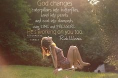 God changes...