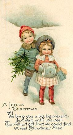 Vintage christmas children¸.•♥•.  www.pinterest.com/WhoLoves/Christmas  ¸.•♥•.¸¸¸ツ #Christmas