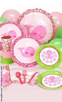 Ocean Preppy Girl Baby Shower Standard Pack