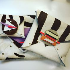 Handmade leather clutches #fabydesigns