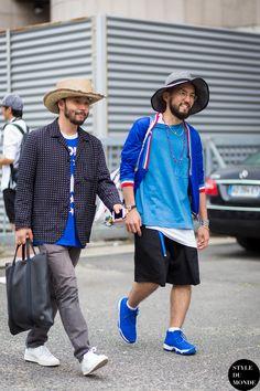 Motofumi Kogi and Katsuya Suzuki Street Style Street Fashion Streetsnaps by STYLEDUMONDE Street Style Fashion Blog