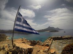 "21 Likes, 1 Comments - Teja Trstenjak (@tejcibejci) on Instagram: ""Gramvousa. #flag #greece #crete #gramvousa #balos #spring #sun #sea #love #allincrete"""