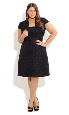 City Chic CONTRAST CARLA DRESS - Plus Sized Fashion - Dress - Wedding - Engagement - Races - Formal