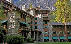 The Ahwahnee, Yosemite National Park, CA: If exploring this national park, be sure to head to The Ahwahnee. Art Deco, Native American, Middle Eastern, and Arts and Crafts influences all contributed to this 1927 landmark's design.