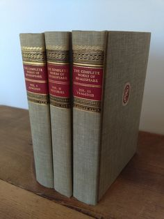 Classics Club Shakespeare Collection Vintage Book Set by jessamyjay on Etsy