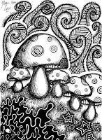 MUSHROOM colouring page FREE download from PSYCHEDELIC AMB. Some of these crazy trippy colouring images are complex enough to amuse for hours on end.