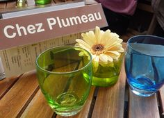 Chez Plumeau - a sweet bistro where I've lunched three times on visits to Paris. 4 Place Calvaire in Montmartre