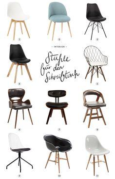Chair for the desk- Stuhl für den Schreibtisch Chair for the desk - Home Office Chairs, Office Furniture, Desk Office, Living Room Chairs, Dining Chairs, Lounge Chairs, Desk Chairs, Study Table Designs, Restroom Design
